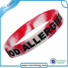 Cadeau de promotion de bracelet lumineux luminescent imperméable de silicone
