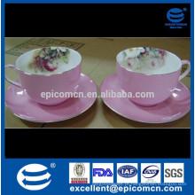 Conjunto de 12 pcs de café real osso novo China chá presente conjunto chá mercadorias