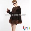 2014 New product hotsale beautiful mongolian fur and fox fur on rabbit fur coat