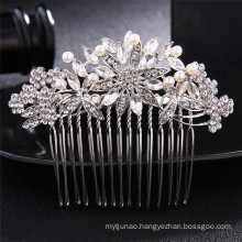Alloy Rhinestone Pearl Hair Comb Wedding Bride Luxury Hair Accessories for Women Girl Baroque Headwear Feast Party Photo Studio