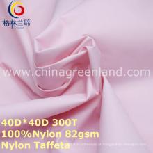 Tela impermeável do tafetá de nylon 300t maçante para o revestimento do vestuário (GLLML271)