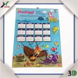 3D Lenticular Wall Calendar Design 2016