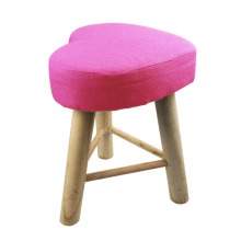 Wood pink heart stools