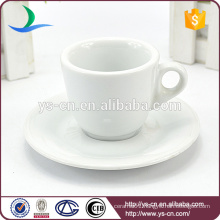 unique white ceramic coffee cup&saucer wholesale