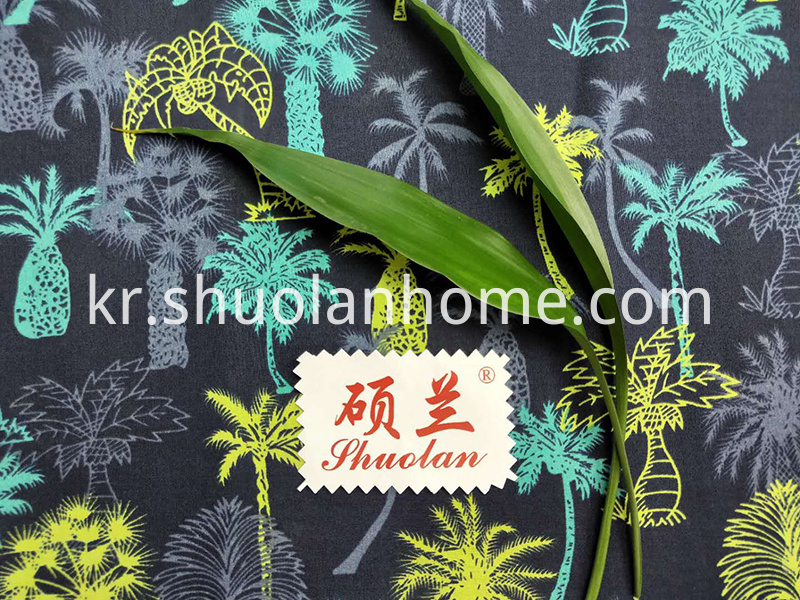 Coconut Tree Print Fabric