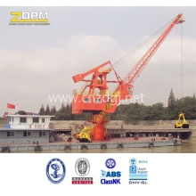 Marine port deck Floating Crane for barge lifting