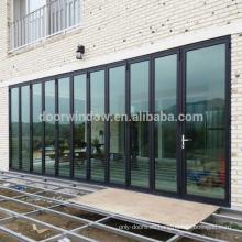 Las puertas de entrada principal estándar de EE. UU. Diseñan puertas plegables de aluminio con corte térmico de Doorwin