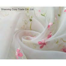 Flower Desgin Voile Embroidery Curtain Fabric