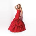 Vestido de novia rojo estilo europeo con perla