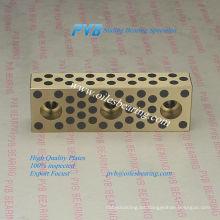 Barra de guía con superficies multi-deslizantes, Bronce con lubricante sólido, cojinete autolubricante