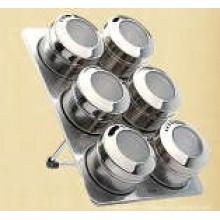Étagère à épices magnétique inox (CL1Z-J0604-6I)