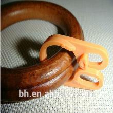 Anel de madeira redonda com 8 clip de plástico