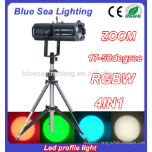 200w LED Cool/warm White rgbw profile led leko light zoom