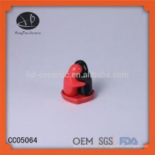 Hot vendendo cerâmico abraçando sal e abanador de pimenta conjunto favores de casamento, SGS / FDA / LFGB sal de certificação e abanador de pimenta