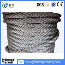 19 * 7 Corda de aço galvanizado de alta tensão de aço de alta resistência para guindaste