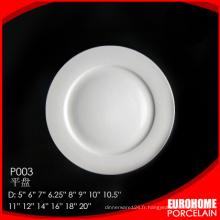 vaisselle de porcelaine hôtel, assiette en porcelaine, porcelaine dîner ensemble