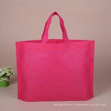 Bolso de compras no tejido del eco colorido de encargo de alta calidad