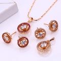 Bijoux de cuivre 62050-Xuping pour femme Ensemble de bijoux en laiton avec plaqué or 18 carats