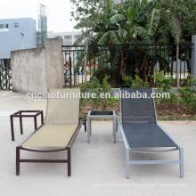 Alumínio sling furniture piscina ao ar livre relaxante espreguiçadeira