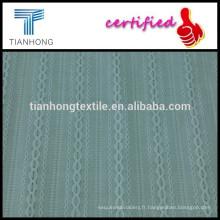 100 % coton tissage tissu/blanc dobby tissu /summer vêtement tissu plat