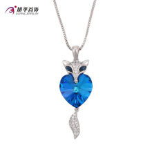 XN4725-xuping fashion jewelry Crystals from Swarovski, silver color fox pendants