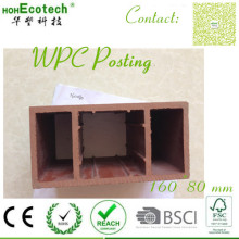 Feuerbeständiger Anti-Feuchtigkeits-Batch-Export WPC-Anbieter Extrudierter WPC-Pavillon-Sockelpfosten