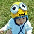 Minion Baby Hat Crochet Baby Hat Crocheted Beanie