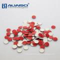 8*1.5mm red PTFE white silicone septa for Shimadzu autosampler vials