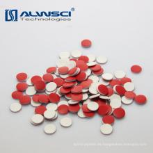 Septal blanco del silicón del rojo de 8 * 1.5mm PTFE para los frascos del autosampler de Shimadzu