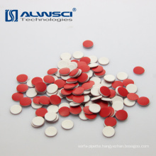 8*1.5mm red PTFE white silicone septa for Shimadzu autosampler vials