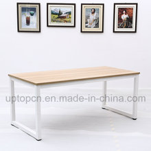 Minimalism Metal Frame Table with Wooden Table Top (SP-RT557)