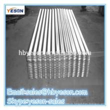 Preço de telhado de metal galvanizado para telhados de chapa metálica