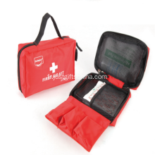 Couleur rouge promotionnel Nylon First Aid Kit sacs