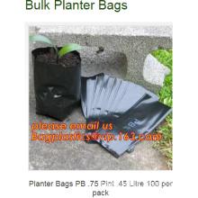 vegetables growing bags planter black plastic bag for plants, Grow Bags Type and Plastic Material planter growing bag, 1,2,3,5Ga