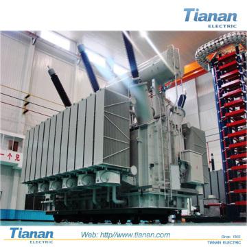 220kv Transmetteur de puissance / Transformateur de distribution Transformateur de puissance immergé à faible bruit