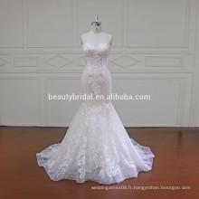 XF16011 styles breloques ajustement et évasement robe de mariée robe de mariée sirène pour femmes
