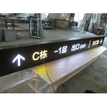 Indoor Interior Mall Floor Entrance Exit Aluminum LED Directory Wayfinding Pylon Sign