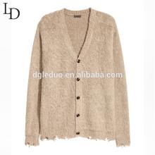 Nuevo suéter de punto de chaqueta de gran tamaño informal para hombres