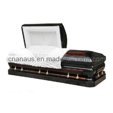 US Style 18ga Steel/Solid Cherry Casket (MW001H)
