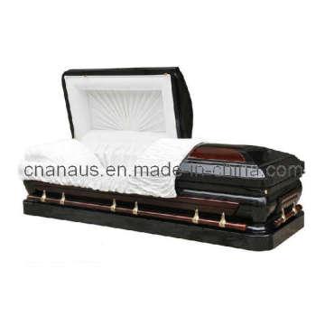 E.U. estilo 18ga aço/sólido caixão cereja (MW001H)