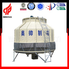 125T round low noise plastic e frp cooling tower price