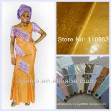 Algodón africano Bazin Riche Guinea Rrocade tela suave de oro Shadda al por mayor y al por menor Damasco ENVÍO GRATIS