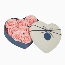 Flower box valentines day packaging emballage Design Custom Wholesale Heart Shaped Gift packaging Box