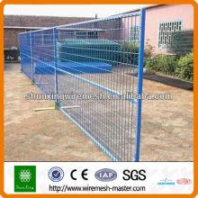 Clôture mobile mobile galvanisée en PVC