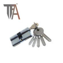 Cilindro de bloqueio de dois lados aberto com cinco chaves normais