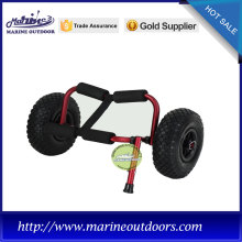 Red trailer trolley, Kayak cart for wholesale, Aluminum tube kayak cart