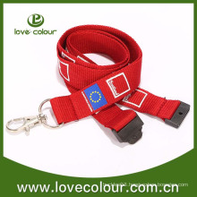 Hot selling red philippine flag lanyard