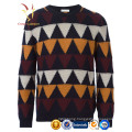 Men's Colourful Intasia Custom knitted Cashmere Sweaters