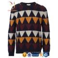 Мужская красочные Intasia пользовательские трикотажные Кашемировые свитера