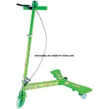Scooter del ala del poder de 3 ruedas, monopatín plegable del retroceso del diseño de la acción simple (ET-PW002)